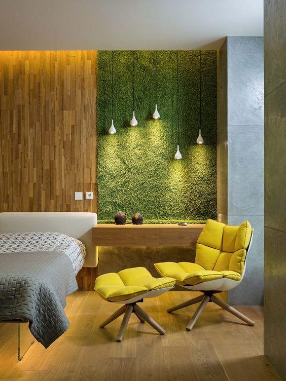Стабилизированный мох в интерьере: декоративные решения