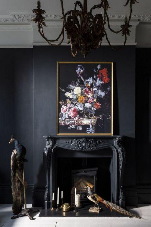 Черный цвет в интерьере: сочетание мистики и шарма